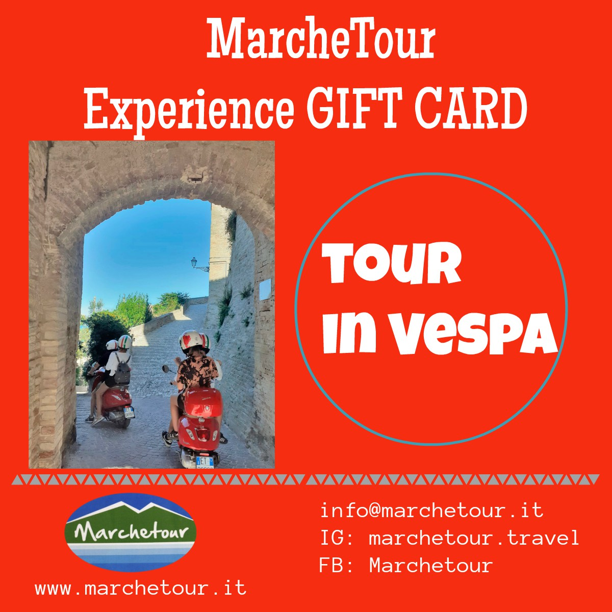 Experience Gift Card: Tour in Vespa